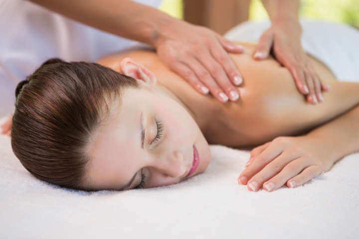 Sesión de masaje de relajación