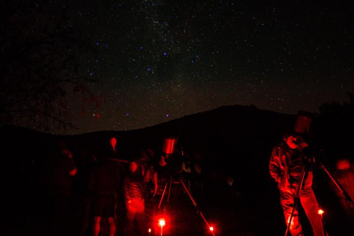 Trekking y tour astronómico por el cerro El Mauco