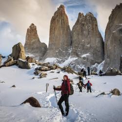 Full Day Trekking Base Torres del Paine en invierno