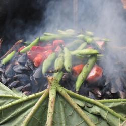 Curanto al hoyo en Chiloé
