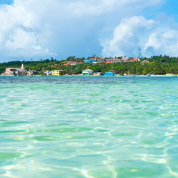 Navegación por la bahía de San Andrés