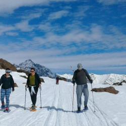 Caminata con raquetas de nieve por el Cajón del Maipo